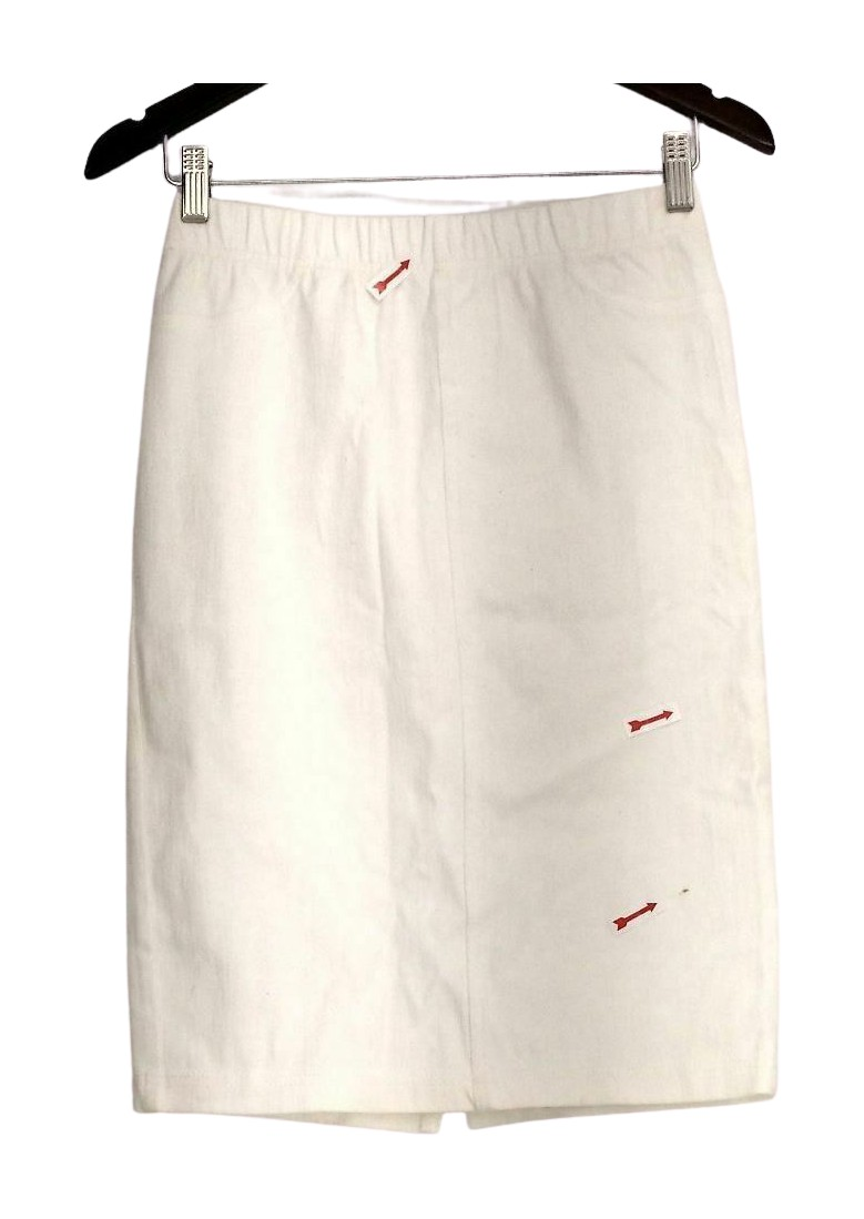 b1a3a071fb Isaac Mizrahi Live! Sz 2 Pull On Icon Marilyn Knit Denim Skirt White ...