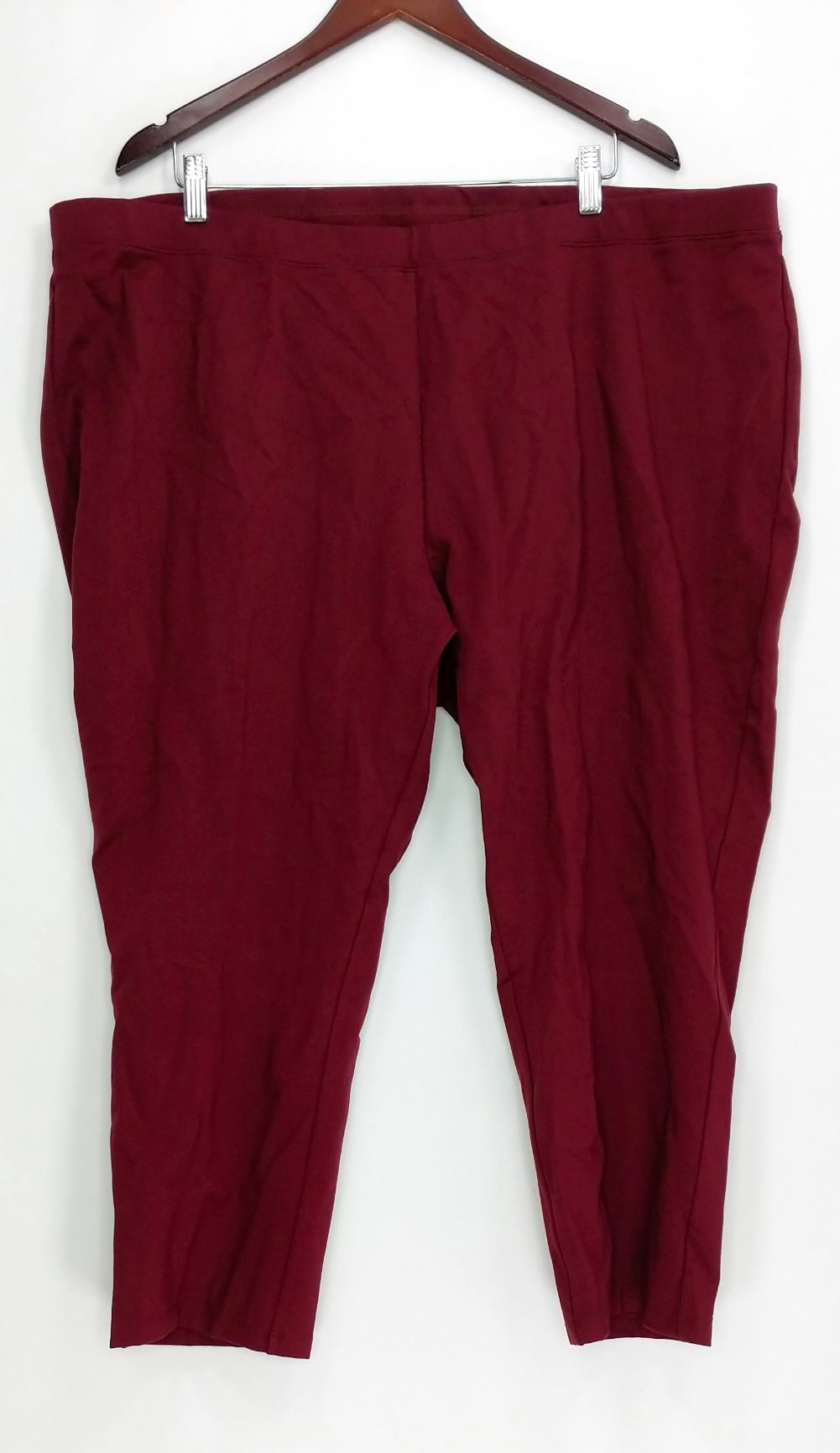 d723e15ec7ab H by Halston Women's Petite Pants 26WP Pull On Ponte Knit Red A294253